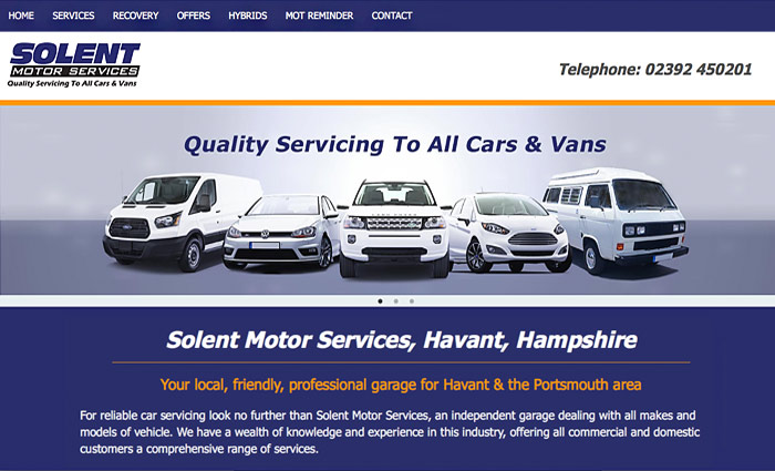 Solent Motor Services website
