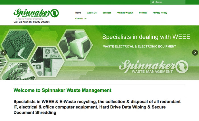 Spinnaker Waste website